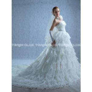 ウエディングドレス ウェディングドレス Aライン ロングトレーン オフホワイト 結婚式 花嫁 披露宴 5号〜25号/サイズオーダードレス/tb061|t-bright