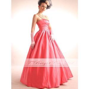 サイズオーダー/カラードレス 演奏会 発表会 色変更可能 ピンク シンプルロングドレスドレス/tb180|t-bright