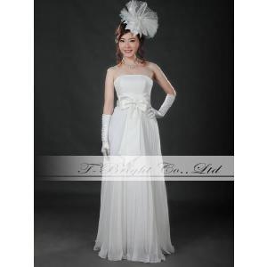 サイズオーダー ウエディングドレス ウェディングドレス オフホワイト スレンダーライン 二次会 結婚式 花嫁 5号〜25号/tb537 t-bright