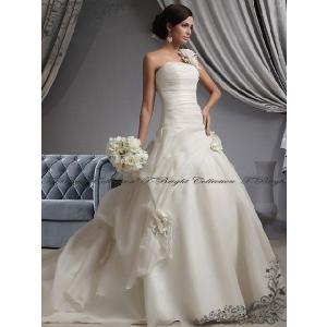 ウエディングドレス Aライン ロングトレーン 結婚式 二次会 花嫁衣裳 披露宴 オフホワイト  ウェディング小さいサイズ 大きいサイズ 5号〜25号/tb564|t-bright