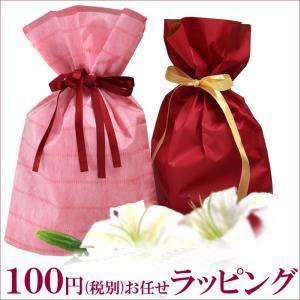 簡単お任せ100円 ラッピング サービス プレゼント 包装  リボンギフト バレンタインデー クリスマス|t-colle2003