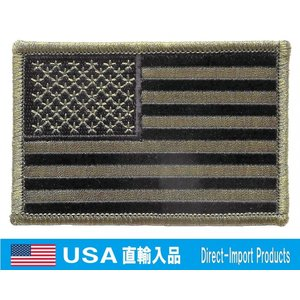 ミリタリー ワッペン アメリカ軍 パッチ USフラッグ 星条旗 ODカラー