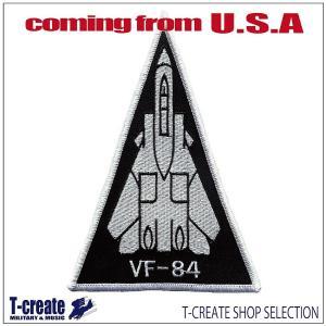 ミリタリー ワッペン アメリカ軍 パッチ F-14 トムキャット ショルダートライアングル VF-8...