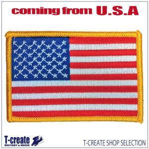 ミリタリー ワッペン アメリカ軍 パッチ USフラッグ 星条旗