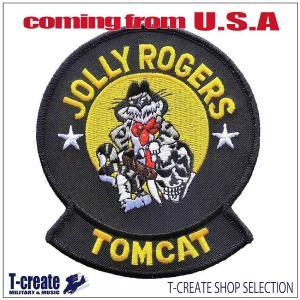 ミリタリー ワッペン アメリカ軍 パッチ F-14トムキャット VF-84 JOLLY ROGERS...