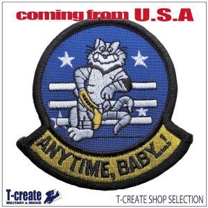 ミリタリー ワッペン アメリカ軍 パッチ F-14 トムキャット ANYTIME BABY U.S ...
