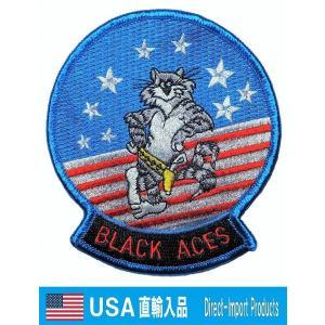 ミリタリー ワッペン アメリカ軍 パッチ F-14 トムキャット BLACK ACES U.S.NA...