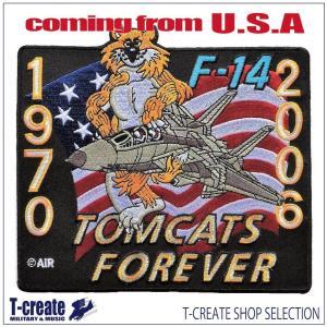 ミリタリー ワッペン  アメリカ軍 パッチ F-14 トムキャット FOREVER 1970-200...