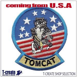 ミリタリー ワッペン アメリカ軍 パッチ F-14 トムキャット マスコット TOMCAT U.S....