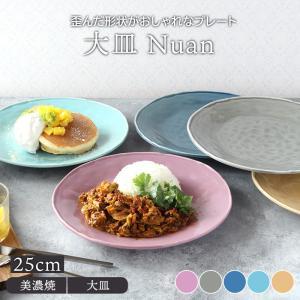 大皿 25cm Nuanプレート お皿 皿 洋食器 おしゃれ 食器 ディナープレート ワンプレート 盛り皿 パスタ皿 主菜皿 サラダ皿 デザート皿 カフェ食器 かわいい t-east