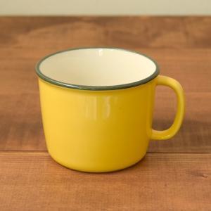 マグカップ 350cc ホーロー風 イエロー (アウトレット) マグ コップ コーヒーカップ コーヒーマグ ティーカップ 食器 おしゃれ 洋食器|t-east