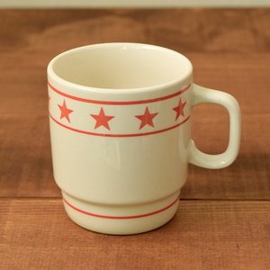 マグカップ 350cc  TenStar レッド (アウトレット) マグ コップ コーヒーカップ コーヒーマグ ティーカップ 食器 おしゃれ 洋食器|t-east