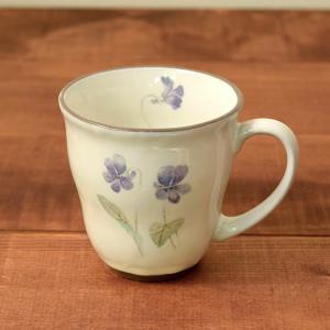 和風マグカップ 300cc  すみれ (アウトレット) マグ コップ コーヒーカップ コーヒーマグ ティーカップ 食器 おしゃれ 洋食器|t-east