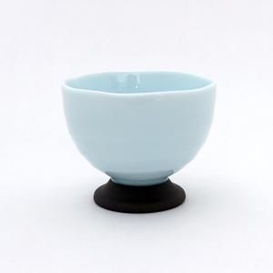 煎茶 140cc 高台ロクべー煎茶 青磁 ライトブルー 湯呑み 湯飲み ゆのみ 湯呑 カップ コップ 茶器 食器 おしゃれ 和食器|t-east