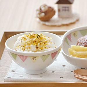子供用お茶碗 E-Kids ガーランド 小さめお茶碗  こども食器 ご飯茶碗 飯碗 キッズ用 ベビー食器 かわいい 日本製 美濃焼 t-east