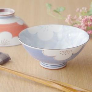 和食器 茶碗(梅の花 青) お茶碗 花柄 ちゃわん 和の食器 かわいい食器 ちゃわん 茶わん ライスボウル おしゃれ 磁器 日本製|t-east