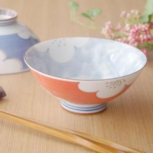 和食器 茶碗(梅の花 赤)お茶碗 花柄 ちゃわん 和の食器 かわいい食器 茶わん ライスボウル おしゃれ 磁器 日本製|t-east