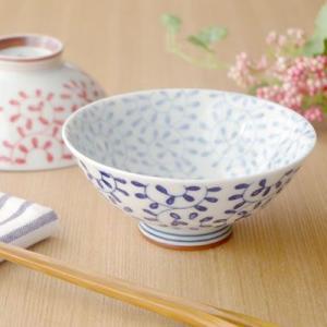 和食器 茶碗(内外たこ唐草 青)お茶碗 和の茶碗 花柄 ちゃわん 和食器 かわいい食器 飯碗 茶わん ライスボウル おしゃれ 磁器 日本製 t-east