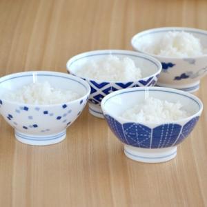 藍文様(あいもんよう) お茶碗 飯碗 ご飯茶碗 茶碗 和食器 美濃焼 くらわんか茶碗 軽量磁器 軽い 軽量 茶わん 磁器 日本製|t-east