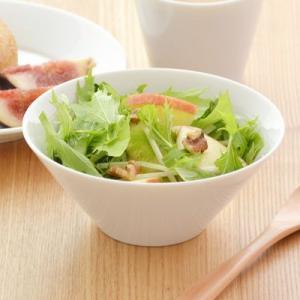 ボウル 台形サラダボウル Style スタイル クリアホワイト おしゃれボウル カフェ 白 シンプル ボール 鉢 美濃焼 カフェ食器 白い食器|t-east
