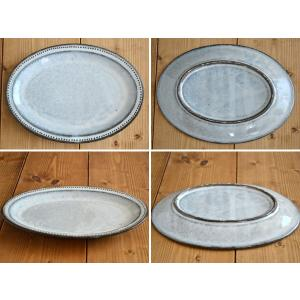 楕円皿 黒土白釉  ドット オーバルプレート21cm ケーキ皿 中皿 楕円皿 パン皿 サラダ皿 和食器 カフェ食器 おしゃれ かわいい 日本製 美濃焼|t-east|02