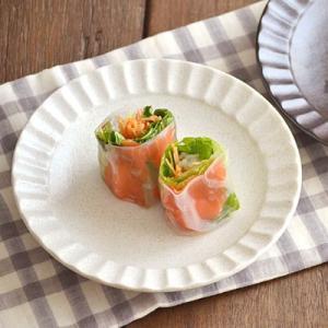 丸皿 白結晶 しのぎ 5寸皿  和皿 中皿 お皿 和食器 取り皿 プレート パン皿 和モダン おしゃれ 日本製 美濃焼|t-east