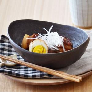 和食器 和の楕円鉢(黒いぶし)丼 和の大鉢 和のどんぶり ボウル カフェ丼 煮物大鉢 和食器 オーバル 食器 おしゃれ|t-east