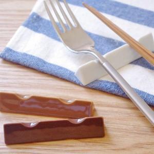 箸置き 和食器 茶色 三角形 ナチュラルカラー カトラリーレ...
