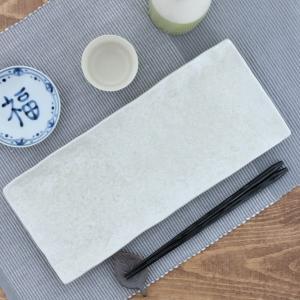 長角皿 31cm ゆず白 和食器角皿 長皿 さんま皿 焼き魚...