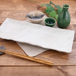 長角皿 35cm ゆず白 和食器 角皿 長皿 さんま皿 焼き...
