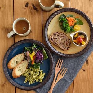 渕十草 大皿 デリスタイル minoruba パスタ皿 ディナープレート サラダ皿 デザートプレート 渋い和食器 お皿 和皿 シンプル 和モダン おしゃれ