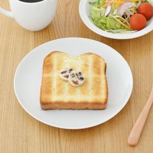 商品説明  とってもシンプルなプレートは、トーストをのせるのにちょうどいいサイズ。 その他サラダや大...