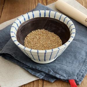 すり鉢 和食器 青十草 土物5寸切立丼 クシ目付   中鉢 和の器 すり鉢 和モダン 擂鉢 シンプル おしゃれ おもてなし 日本製|t-east