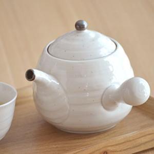 エッグ急須 480cc 粉引  ※茶こし付き    和食器 ポット 茶器 ティーポット 和風 きゅうす|t-east