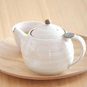 エッグポット 480cc 粉引  ※茶こし付き    和食器 ポット 急須 茶器 ティーポット 和風|t-east
