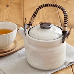 土瓶 粉引 650cc茶こし付き 土瓶つる 急須 ポット 茶器 和風 お茶 日本茶 緑茶 番茶 ほうじ茶 大容量 大きい 来客用 和食器 おしゃれ 持ち手 取っ手|t-east