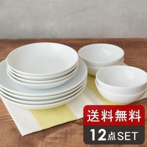 食器セット 送料無料 白い食器の福袋 軽量!おもてなしセット(12点)(アウトレット) 食器 白 白い食器セット 軽量食器セット プレゼント 美濃焼 日本製 軽い|t-east