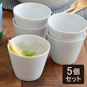マルチカップ Style(スタイル)クリアホワイト 5個セット 食器セット 家族セット カップ コップ フリーカップ 湯呑み 湯のみ そば猪口 デザートカップ 業務用|t-east