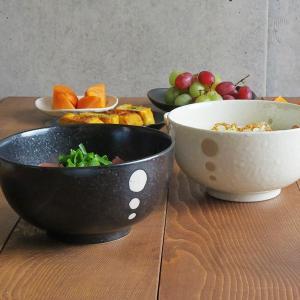 丼ぶり 和食器 水玉 お好みどんぶり (大) (ドットモノトーンシリーズ) 丼 どんぶり ボウル ラーメン 麺鉢 食器 おしゃれ|t-east