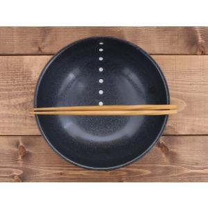 丼ぶり 水玉 麺鉢 大 (ドットモノトーンシリーズ) 和食器 丼 どんぶり さぬき丼ぶり 大きなどんぶり めん鉢 大鉢 麺鉢 食器 おしゃれ|t-east|02