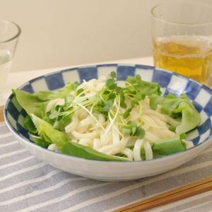 藍染の市松模様が上品で、おもてなしの際にも活躍してくれる和風のパスタ皿です。 他にもカレ皿ーや煮物鉢...