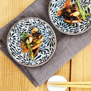 豆皿 和食器 藍染たこ唐草  和皿 お皿 薬味皿 醤油皿 小皿 漬物皿 かわいい おしゃれ 日本製 美濃焼 伝統文様 おもてなし|t-east