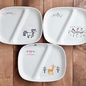 お子様ランチプレート 女の子用 TOTOY 子供食器 子供用食器 こども食器 こども用食器 キッズ食器 ランチプレート 仕切り皿 仕切り プレート お皿 ワンプレート t-east