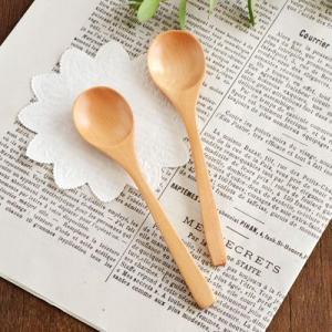 木製スプーン カトラリー ハンドメイド 口当たりの良いなめらかな仕上がり ナチュラル ティースプーン こども食器 スプーン シンプル おしゃれ|t-east