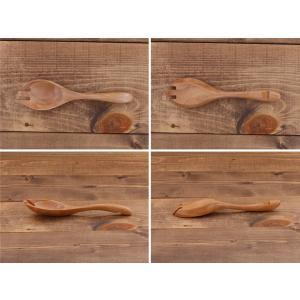 木製 鍋スプーンフォーク ナチュラル 木製スプーン 先割れスプーン カトラリー レンゲ 木 なべ用 スプーン フォーク シンプル かわいい おしゃれ|t-east|06