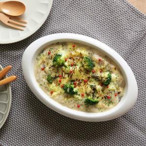 グラタン皿 大 楕円 ホワイト 2〜3人用 オーブンウェア オーブン料理 ドリア グリル料理 ラザニア パイ料理 オーバル 大きいサイズ 白い食器|t-east