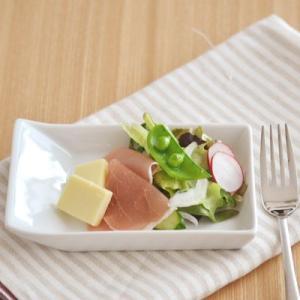 リストランテ 洋食器 ワンサイド スクエアトレー 14.5cm アウトレット 白 ホワイト おしゃれ 個性的デザイン シンプル おしゃれ かわいい t-east