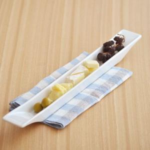 洋食器 白 オードブル皿 カフェ リストランテ スクエア ロングアペタイザー 40cm アウトレット ホワイト シンプル おしゃれ かわいい 日本製 美濃焼|t-east