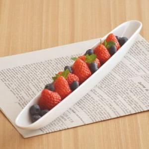 洋食器 リストランテ オーバル ロングアペタイザー 34cm アウトレット パーティー食器 変形皿 おしゃれ 長皿 前菜皿 白い食器 おもてなし食器|t-east