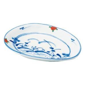 赤絵うさぎ 雲型皿 小      和食器 和皿 上絵 小皿 取り皿 雲型 変形皿 業務用食器|t-east
